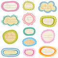 Vintage labels set aged paper Royalty Free Stock Photo