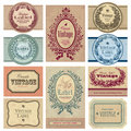 Vintage labels set (vector) Royalty Free Stock Photography