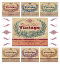 Vintage labels set (vector) Stock Photography