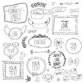 Vintage labels set vector this is file of eps format Stock Photography
