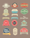 Vintage labels stickers and set Royalty Free Stock Image