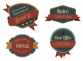 Vintage Labels template collection. Royalty Free Stock Image