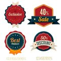 Vintage Labels template set. Royalty Free Stock Photography