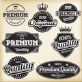 Vintage labels vector collection of retro Stock Images