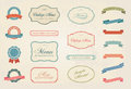 Vintage Labels Vector Design Elements Collection Set Royalty Free Stock Photo