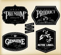 Vintage labels vector set of Royalty Free Stock Images