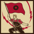 Vintage Labor Propaganda Royalty Free Stock Photo