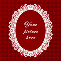 Vintage Lace Frame, Seamless Background Stock Photo