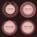 Vintage lace frames Stock Images