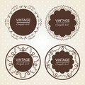 Vintage lace frames. Royalty Free Stock Photo