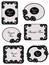 Vintage lace labels Stock Image