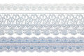 Vintage lace line object ornamental flowers real Royalty Free Stock Photos
