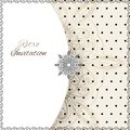 Vintage lace polka dots vector ornament card with label and striped grunge background Stock Photography