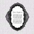 Vintage lacy label this is file of eps format Royalty Free Stock Photography