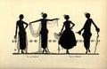 Vintage ladies illustration