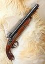 Vintage large-bore pistol. Royalty Free Stock Photo
