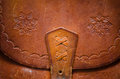 Vintage leather bag detail of a Stock Images