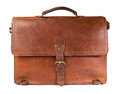 Vintage Leather Briefcase Royalty Free Stock Photo