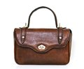 Vintage leather hand bag Royalty Free Stock Photo