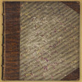 Vintage Leatherbound Book Background Royalty Free Stock Photo