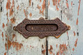 Vintage letterbox slot antigua guatemala in the house Stock Image
