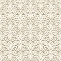 Vintage light pattern seamless in color ornamental beige background Stock Images