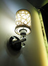 Vintage light wall lamp indoor home lighting Royalty Free Stock Photo