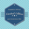 Vintage limited edition badge retro designed style design Stock Photography