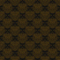 Vintage linear damask pattern with gold lines hand drawn website background or holiday wrapping paper or elegant wedding Stock Image