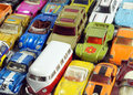 Vintage little toy cars small colorful model Royalty Free Stock Image