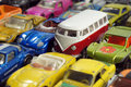 Vintage little toy cars small colorful model Stock Images