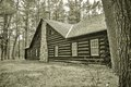Vintage Log Cabin Royalty Free Stock Photo