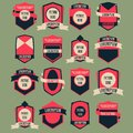 Vintage logo vector set complete collection Royalty Free Stock Photography