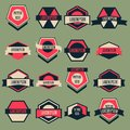 Vintage logo vector set complete collection Royalty Free Stock Images