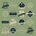 Vintage logo vector set flat design Stock Images