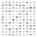 Vintage Logos Design Templates Set. Vector logotypes elements collection