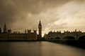 Vintage London with Big Ben and the Houses of Parliament Royalty Free Stock Photo