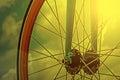 Vintage bicycle detail with bokeh