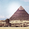 Vintage look of Sphinx Stock Images