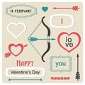 Vintage love collection vector illustration Royalty Free Stock Photography
