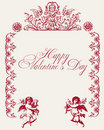 Vintage love vector background Royalty Free Stock Images