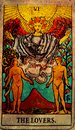 Vintage The Lovers Tarot Cards Love choices partnerships affection. Going, another.