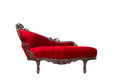 Vintage luxury red sofa Stock Images