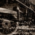 Vintage machines background Stock Photo