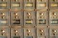 Vintage Mail Pigeonholes Stock Photos