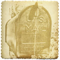 Vintage Mailbox Print Royalty Free Stock Photo