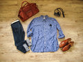Vintage male cloth fashion and accessories Stock Image