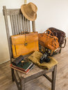 Vintage male cloth fashion bag and accessories Stock Photo