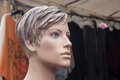 Vintage mannequin at the market Royalty Free Stock Photo