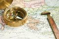Vintage Map and Chart Royalty Free Stock Photo